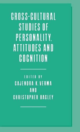Cross-Cultural Studies of Personality, Attitudes and Cognition (Hardback)