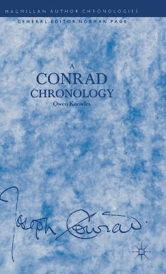 A Conrad Chronology - Author Chronologies Series (Hardback)