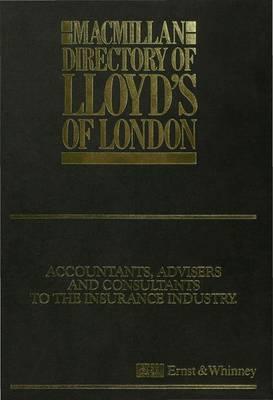 Macmillan Directory of Lloyd's of London (Hardback)
