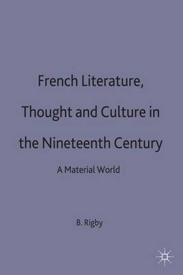 French Literature, Thought and Culture in the Nineteenth Century: A Material World - Warwick Studies in the European Humanities (Hardback)