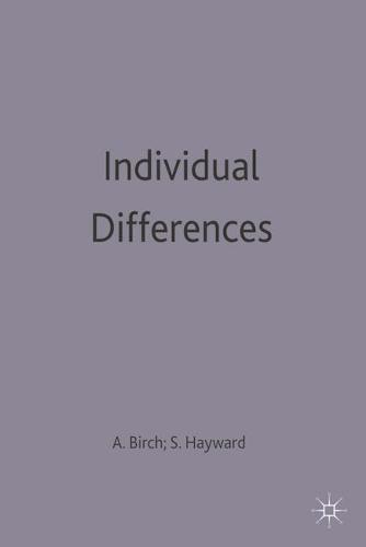 Individual Differences - Introductory Psychology Series (Paperback)