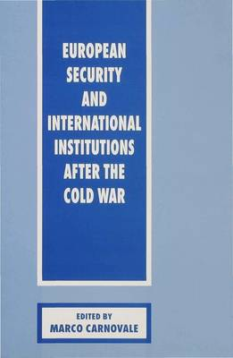European Security and International Institutions after the Cold War (Hardback)