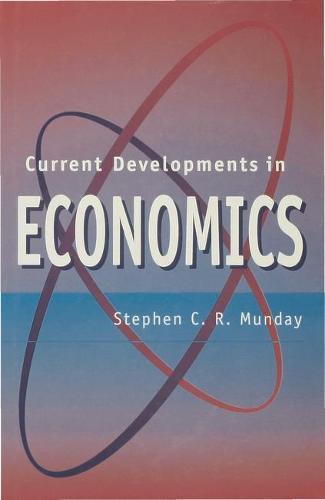 Current Developments in Economics (Hardback)