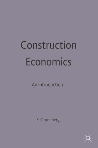 Construction Economics: An Introduction - Building and Surveying Series (Paperback)