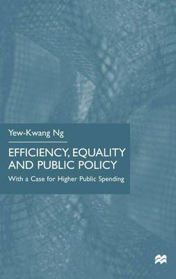 Efficiency, Equality and Public Policy: With A Case for Higher Public Spending (Hardback)