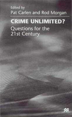 Crime Unlimited?: Questions for the Twenty-First Century (Hardback)