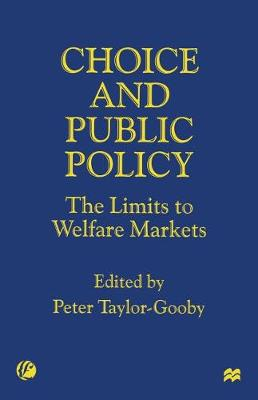 Choice and Public Policy: The Limits to Welfare Markets (Paperback)