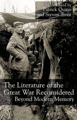 The Literature of the Great War Reconsidered: Beyond Modern Memory (Hardback)