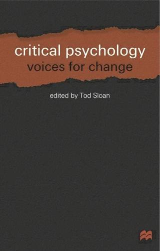 Critical Psychology: Voices for Change (Paperback)