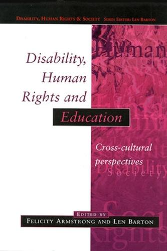 Disability, Human Rights and Education (Paperback)