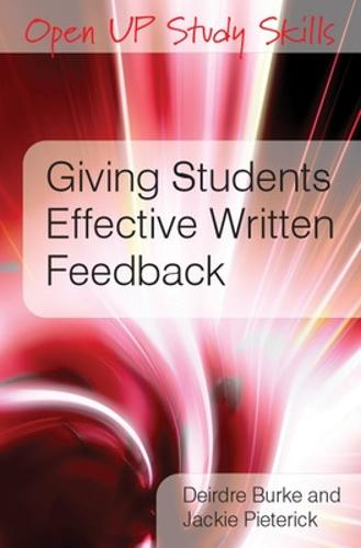 Giving Students Effective Written Feedback (Paperback)