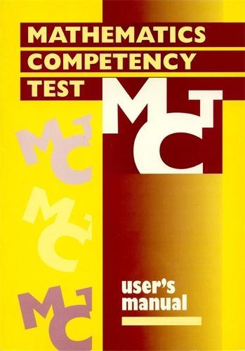 Mathematics Competency Test SPECIMEN SET