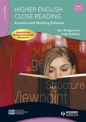 Higher English Close Reading Answers and Marking Schemes - SEM (Paperback)