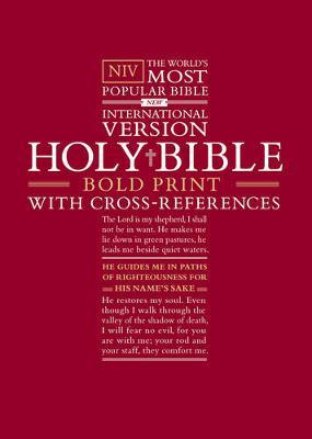 NIV Bold Print Bible w/Cross-Ref: HB, New Cross Design (Hardback)