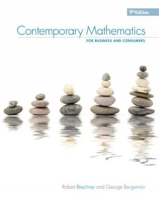 Contemporary Mathematics for Business & Consumers (Paperback)