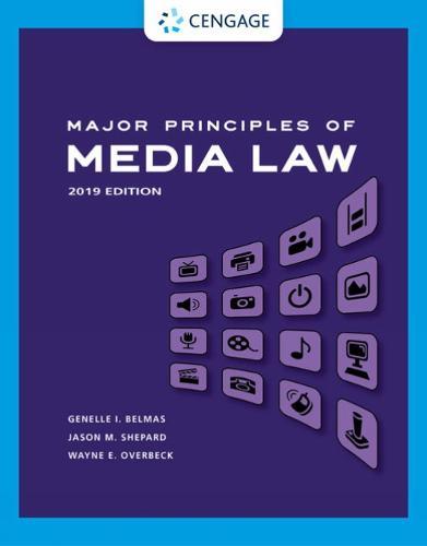 Major Principles of Media Law: 2019 Edition (Paperback)