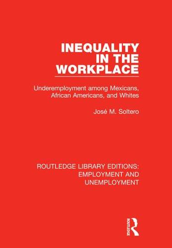 Inequality in the Workplace: Underemployment among Mexicans, African Americans, and Whites - Routledge Library Editions: Employment and Unemployment 8 (Hardback)