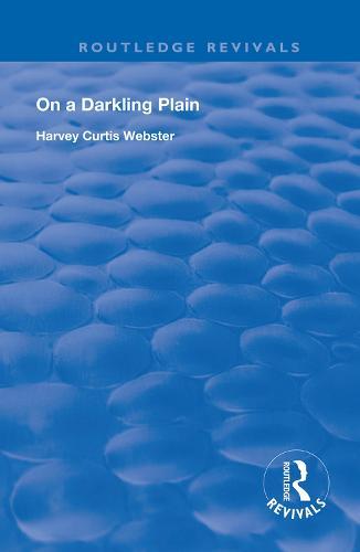 On a Darkling Plain - Routledge Revivals (Hardback)