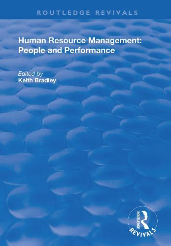 Human Resource Management: People and Performance - Routledge Revivals (Hardback)