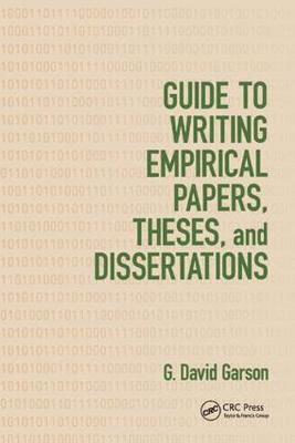 Guide to Writing Empirical Papers, Theses, and Dissertations (Paperback)