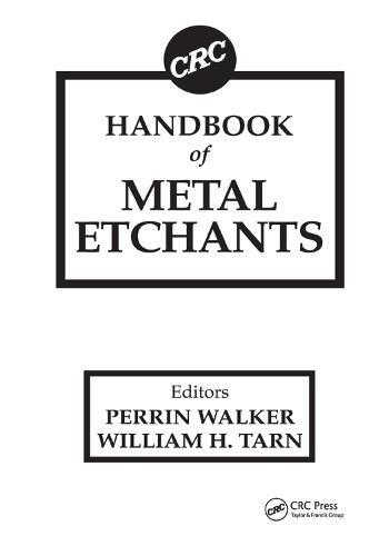 CRC Handbook of Metal Etchants (Paperback)