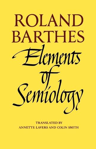 Elements of Semiology (Paperback)