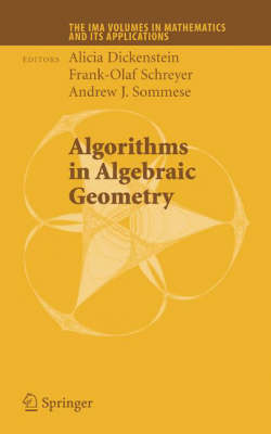 Algorithms in Algebraic Geometry - The IMA Volumes in Mathematics and its Applications 146 (Hardback)
