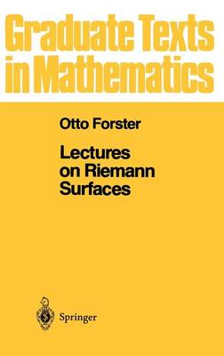 Lectures on Riemann Surfaces - Graduate Texts in Mathematics 81 (Hardback)