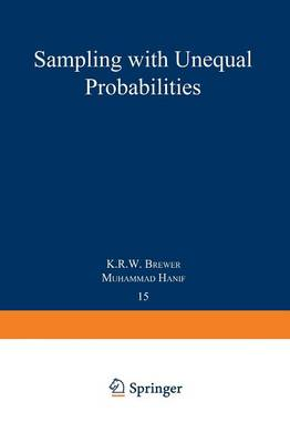 Sampling With Unequal Probabilities - Lecture Notes in Statistics 15 (Paperback)