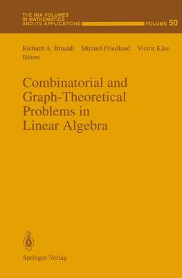 Combinatorial and Graph-Theoretical Problems in Linear Algebra: Workshop : Selected Papers (Hardback)