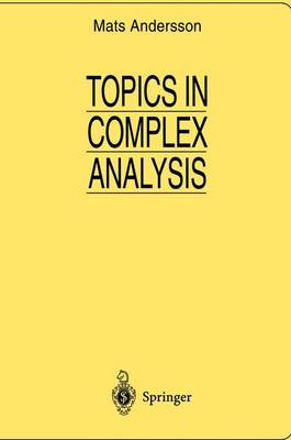 Topics in Complex Analysis - Universitext: Tracts in Mathematics (Paperback)
