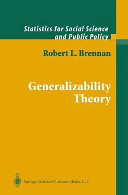 Generalizability Theory - Statistics for Social and Behavioral Sciences (Hardback)