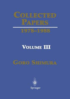Collected Papers III: 1978-1988 v. 3: 1978-1988 (Hardback)