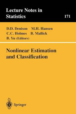 Nonlinear Estimation and Classification - Lecture Notes in Statistics 171 (Paperback)