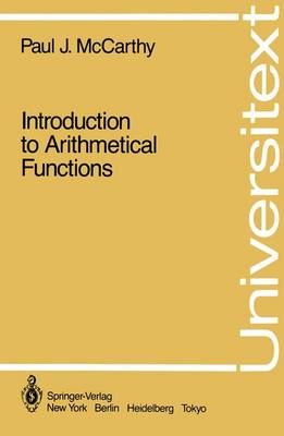 Introduction to Arithmetical Functions - Universitext (Paperback)