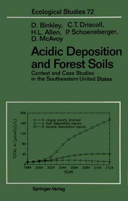 Acidic Deposition and Forest Soils: Context and Case Studies of the Southeastern United States - Ecological Studies 72 (Hardback)