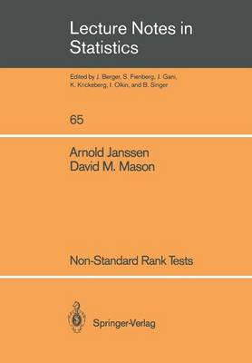 Non-Standard Rank Tests - Lecture Notes in Statistics 65 (Paperback)