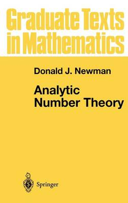 Analytic Number Theory - Graduate Texts in Mathematics 177 (Hardback)