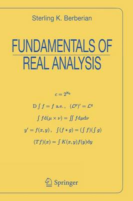 Fundamentals of Real Analysis - Universitext (Paperback)