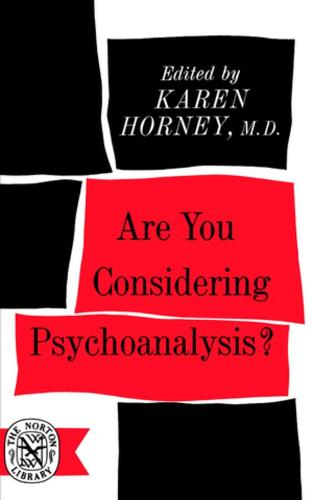 Are You Considering Psychoanalysis? (Paperback)