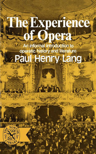 The Experience of Opera (Paperback)