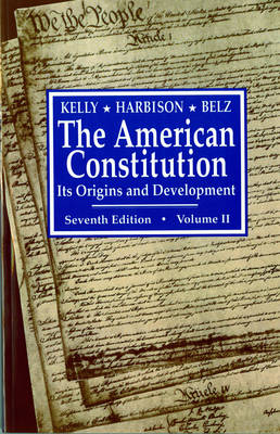 The American Constitution, Its Origins and Development (Paperback)