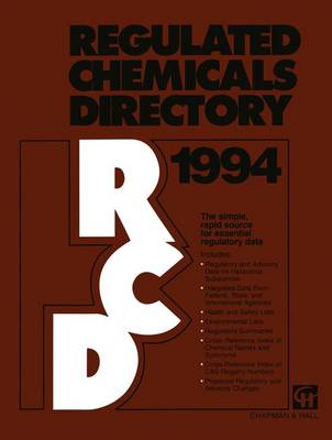 Regulated Chemicals Directory 1994 (Paperback)