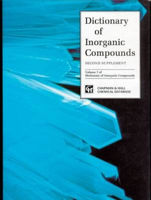 Dictionary of Inorganic Compounds, Supplement 2 (Hardback)