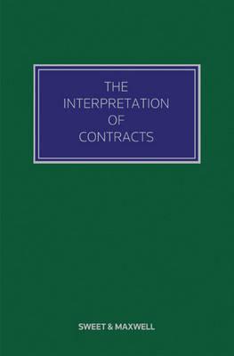The Interpretation of Contracts (Hardback)