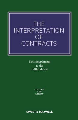 The Interpretation of Contracts: 1st Supplement (Paperback)