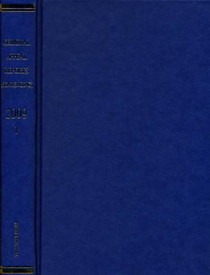 Criminal Appeal Reports (Sentencing) 2009 Bound Volume V1 (Hardback)