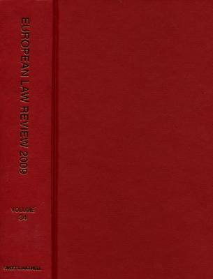 European Law Review 2009 Bound Volume (Hardback)