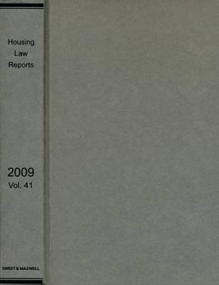 Housing Law Reports 2009 Bound Volume (Hardback)