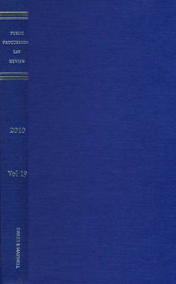 Public Procurement Law Review 2010 Bound Volume (Hardback)
